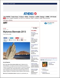 mykonos beinnale 2013 - press - athens voice