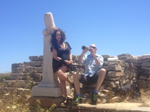 mykonos biennale 2013, lydia venieri and dimitris vassilakis on delos - 23rd june